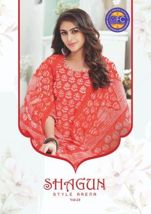 Mfc Shagun 24 Cotton Designer Dress Material Collection