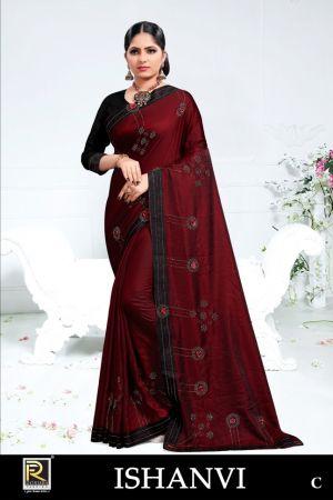 Ronisha Ishanvi Embroidery Worked Sarees Collection