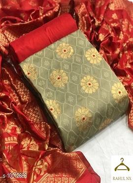 Banarasi 102 Banarasi Jacquard Designer Dress Material