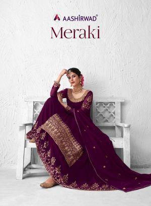 Aashirwad Meraki 8380 Series Embroidery Salwar Kameez Collection