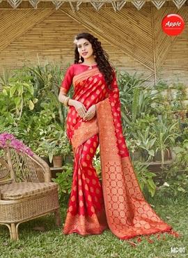 Apple Mangalgiri Festive Wear Silk Sarees Collection