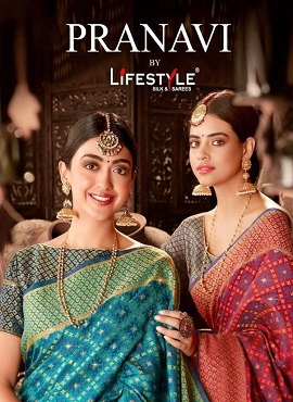Lifestyle Pranavi Festive Wear Printed Sarees Collection