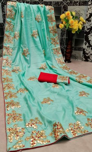 Mahek 19 Casual Wear Embroidery Worked Saree Collection