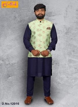 Outlook 12 Festive Wear Kurta Pajama With Jacket Mens Wear Collection