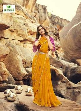 Sanskar Once More Fancy Wear Printed Sarees Collection