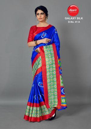 Apple Galaxy Silk Printed Silk Sarees Collection