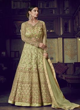 Raazi Embroidery Worked Net Ladies Gown Collection