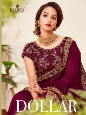 Kalista Dollar Fancy Embroidery Worked Sarees Collection