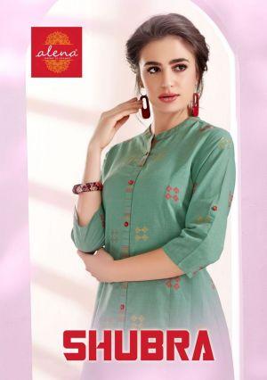Alena Shubra Cozy Vibrant Look Kurti With Bottom Collection