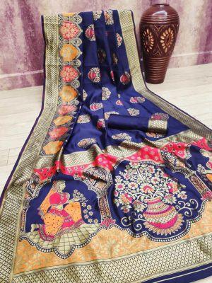 Vasundhra Silk Festive Wear Banarasi Sarees Collection
