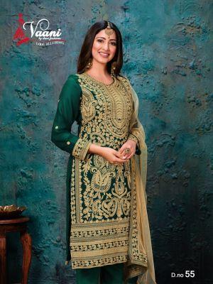Vaani 5 Heavy Work Faux Georgette Designer Salwar Suits Collection