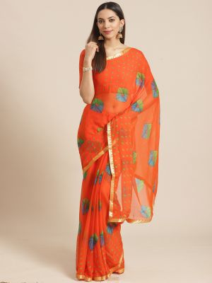 Queen 6 Casual Wear Chiffon Printed Sarees Collection