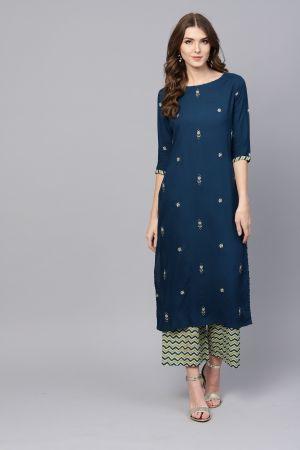 Era Pankh 3 Ethnic Wear Printed Kurti With Bottom  Collection