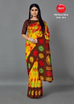 Apple Patola Silk 36 Casual Wear Silk Sarees Collection