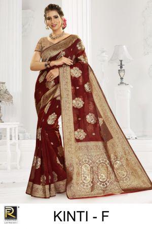 Ronisha Kinti Silk Festive Wear Silk Saree Collection