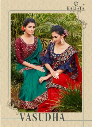 Kalista Vasudha Festive Wear Georgette Sarees Collection