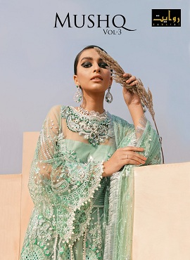Rawayat Mushq 3 Pakistani Salwar Suits Collection