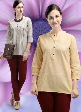 Jelite Carnation 2 Fancy Cotton Ladies Top Collection