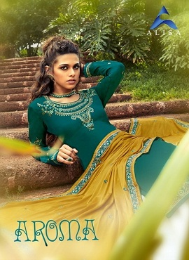 Alisa Aroma Heavy Designer Dress Material Collection