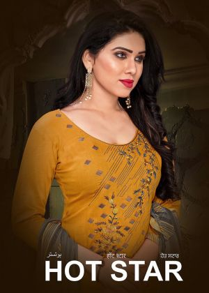 Hot Star Casual Wear Cotton Dress Materials Collection