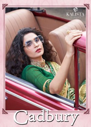 Kalista Cadbury Festive Wear Embroidery Worked Sarees Collection
