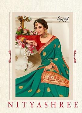Saroj Nityashree Festive Wear Silk Sarees Collection