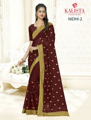 Kalista Nidhi 2 Casual Wear Georgette Sarees Collection