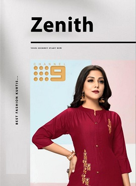 C9 Zenith Chinon Silk Embroidery Kurti With Bottom Collection