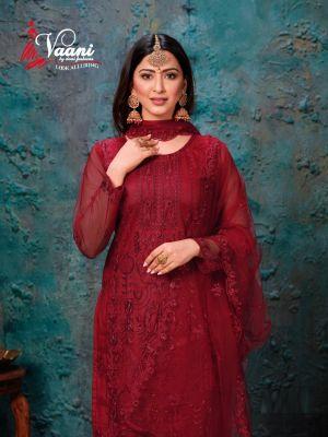Vaani 7 Heavy Net Designer Salwar Suits Collection