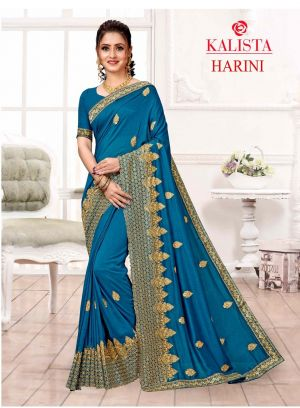 Kalista Harini Embroidery Worked Sarees Collection