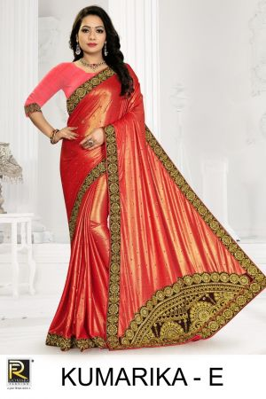 Ronisha Kumarika Embroidery Worked Saree Collection
