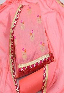Rnx Viscose Jacquard 4 Designer Dress Material Wholesaler