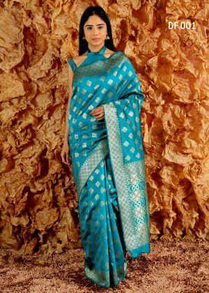 New Arrival Df 1 Lichi Silk Saree Collection