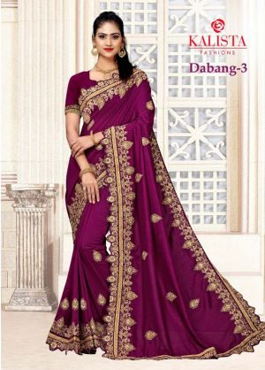 Kalista Dabang 3 Embroidery Worked Sarees Collection