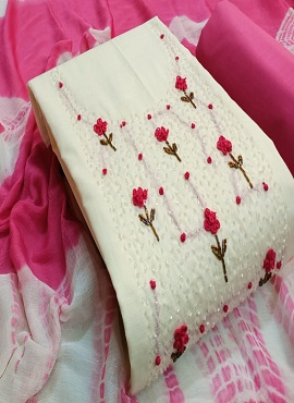 Pearl Handwork 1 Casual Wear Dress Material Collection