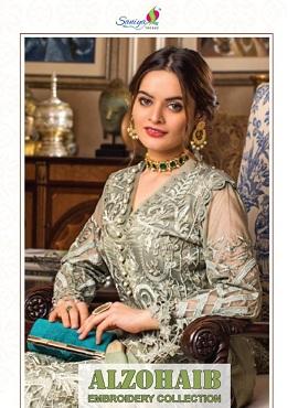 Saniya Alzohaib Embroidery Pakistani Salwar Suits Collection
