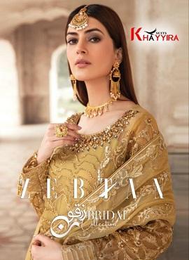 Khayyira Zebtan Faux Georgette Pakistani Salwar Suits Collection