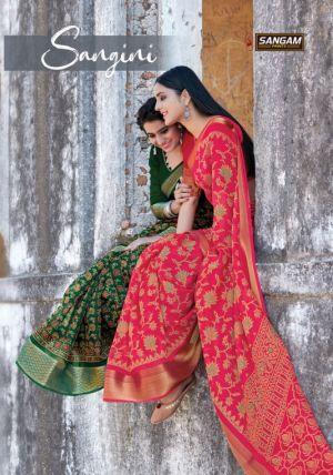 Sangam Sangini Casual Wear Printed Cotton Sarees