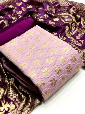 Banarasi Silk Dress 34 Casual Wear Dress Material Collection