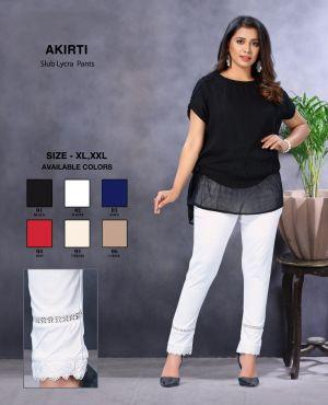 Kavyansika Akirti Fancy Slub Lycra Pants Collection