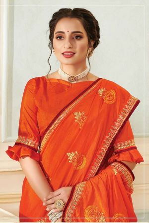 Kalista Victoria Embroidery Worked Sarees Collection