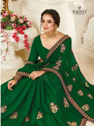 Kalista Euro Festive Wear Embroidery Worked Sarees Collection