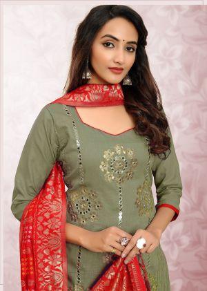 Salome Casual Wear Designer Churidar Dress Material Collection