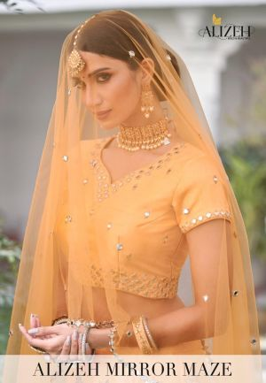 Alizeh Mirror Maze 1012 Series Wedding Wear Lehenga Collection