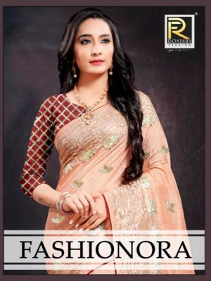 Ronisha Fashionora Festive Wear Embroidery Worked Saree Collection
