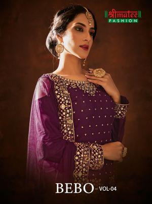 Shreematee Bebo 4 Jam Cotton Embroidery Salwar Kameez Collection