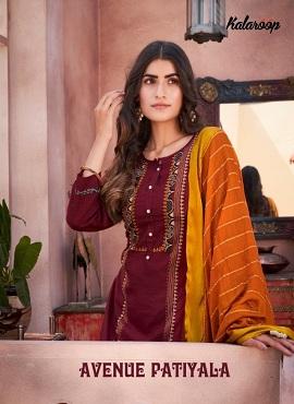 Kalaroop Avenue Patiyala Embroidered Designer Readymade Collection