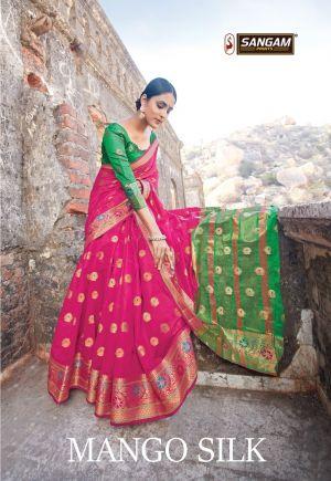 Sangam Mango Silk 2 Casual Wear Cotton Sarees Collection