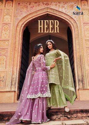 Heer 2007 Series Heavy Net Embroidery Salwar Kameez Collection