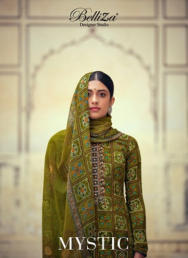 Belliza Mystic Digital Printed Fancy Designer Dress Material Collection